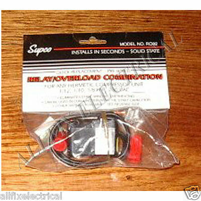 Supco Universal Fridge Solid State Motor Relay/Overload 1/8-1/12HP - Part # RO82 • AUD 61.96