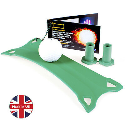 Rocket Launcher Smart Mat  Winter Rules Golf Mat Plus 2 Rubber Tees