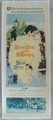 SNOW WHITE AND THE THREE STOOGES 1961 ORIGINAL 14x36 LINEN BACKED INSERT POSTER