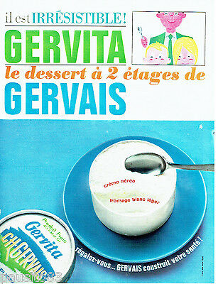 PUBLICITE ADVERTISING 026  1964  Gervais  fromage blanc Gervita