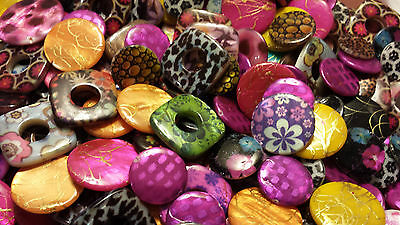 Assortment of Real Shell Beads-various shapes and colours