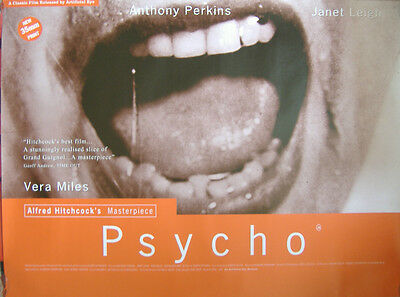 Psycho (1990's) Original UK Quad Re-Release poster, Alfred Hitchcock,Janet Leigh