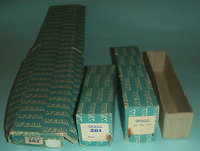 Wesa Empty Boxes With Labels 367 & 261 + Lid # 243 + Un-matching Box No Lid.