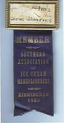 1930 Birmingham Alabama Convention Badge Southern Association ICE CREAM DAIRIES