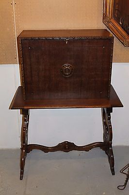 Antique Walnut drop Front Writing Desk