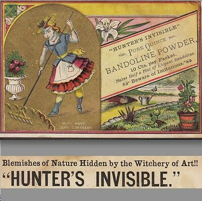 Skin Cure Witchery Hunters Invisible Cosmetic Bandoline Quince Advertising Card