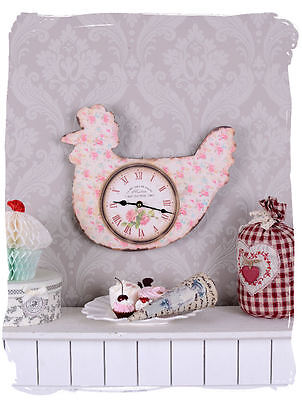 Wall Clock Rooster Kitchen Shabby Chic Nostalgic Country House Style Watch