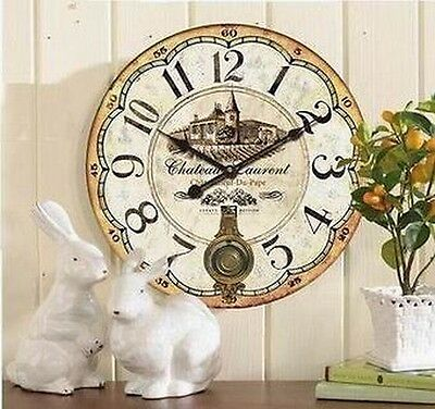 Large Wall Clock Kitchen Clock Chateau Country House Romantic