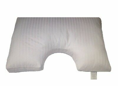 King Size Side Sleeper Sore Neck + Shoulders Pillow+Pillow Case Aust Made Microf