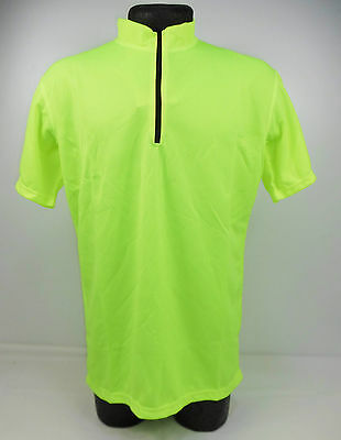 Mardale Hi Viz Wicking Running Cycle Cycling Polo Top Made In England CR55