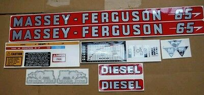 Massey Ferguson 65  Decals Complete Set For Gas Or Diesel