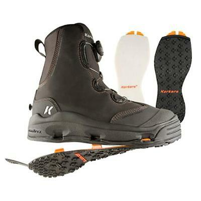 Size 11 Korkers Devils Canyon Wading Fishing Boot Felt + Kling-On Rubber Soles