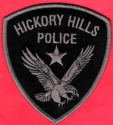 Hickory Hills Illinois Police Shoulder Patch  Subdued