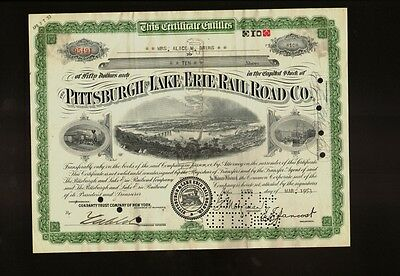 The Pittsburgh and Lake Erie Railroad Co 1953 iss to Alice Bruns