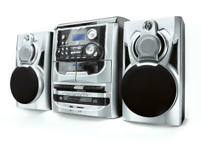 Dual MP 301 Mini Stereo System 3-fach CD Wechsler Kassette MP3 USB Radio