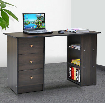 3 Drawer Computer Desk Executive Office Workstation Study Table for Home Office