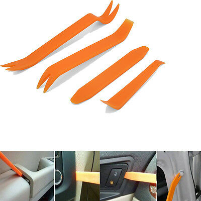 4pcs Plastic Trim Panel Clip Light Audio Removal Pry Open Interior Tool For Car