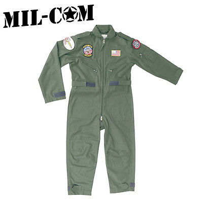 Milcom Kids Childrens Fly Flying Suit Top Gun Fancy Dress Aviation Pilot US Army
