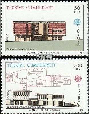 Turkey 2777-2778 mint never hinged mnh 1987 Architecture