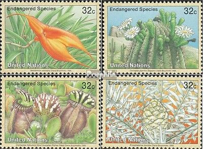 UN - New York 707-710 mint never hinged mnh 1996 Affected Plants