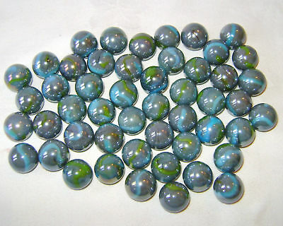 NEW 50 WHITE GHOST 14mm GLASS MARBLES TRADITIONAL GAME or COLLECTORS ITEMS HOM