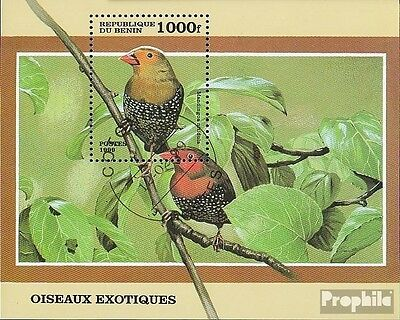 Benin block45 fine used / cancelled 1999 Small Birds out all World