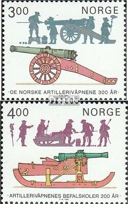 Norway 921-922 mint never hinged mnh 1985 artillery