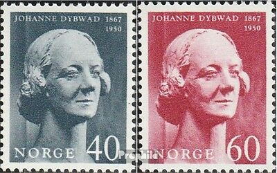 Norway 557-558 mint never hinged mnh 1967 johanne Dybwad