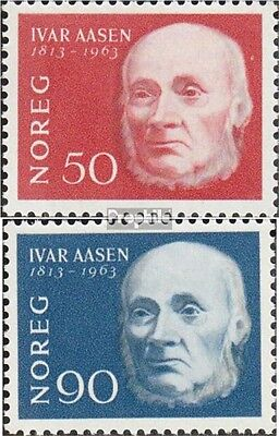 Norway 496-497 mint never hinged mnh 1963 Ivar Aasen