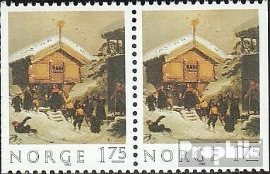 Norway 875Dl/Dr Couple mint never hinged mnh 1982 christmas