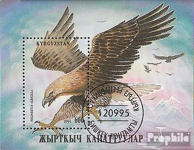 Kirgisistan Block11A fine used / cancelled 1995 Birds of prey