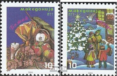 makedonien 76-77 mint never hinged mnh 1996 christmas