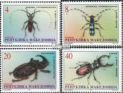 makedonien 143-146 mint never hinged mnh 1998 Beetles