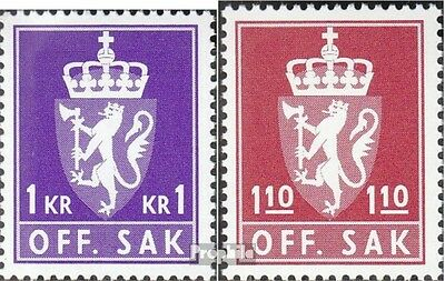 Norway D107-D108 mint never hinged mnh 1980 State Emblem