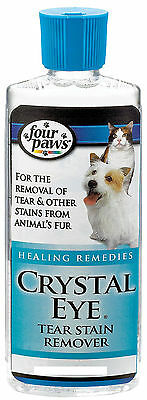 Four Paws Crystal Eye 8 Oz For Daily Use Removes Stains Free Shipping To The Usa