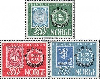 Norway 393-395 mint never hinged mnh 1955 Stamp Exhibition