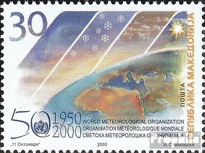 makedonien 194 mint never hinged mnh 2000 50 years WMO