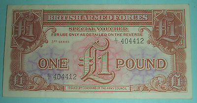 British Armed Forces Special Voucher 3rd Series £1. Mint.