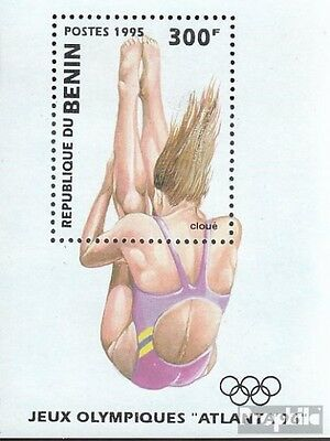 Benin block8 fine used / cancelled 1995 Olympics Summer ´96