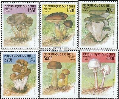 Benin 1003-1008 mint never hinged mnh 1998 Mushrooms