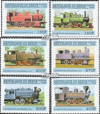 Benin 1024-1029 mint never hinged mnh 1998 Steam locomotives