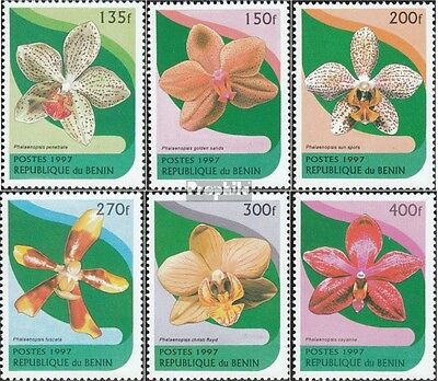 Benin 943-948 mint never hinged mnh 1997 Orchids