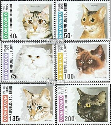 Benin 668-673 mint never hinged mnh 1995 Cats