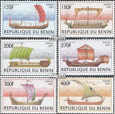Benin 971-976 mint never hinged mnh 1997 Sailboats