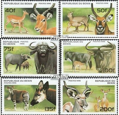Benin 856-861 mint never hinged mnh 1996 ungulates