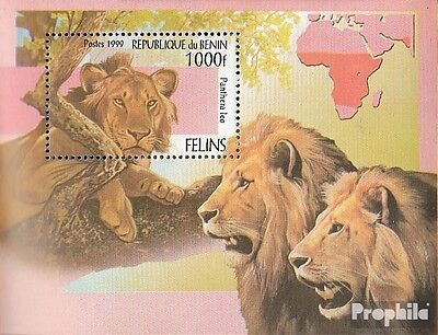 Benin Block52 mint never hinged mnh 1999 Big Cats