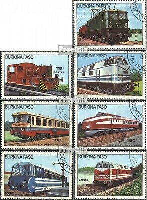 Burkina Faso 1043-1049 mint never hinged mnh 1985 Locomotives