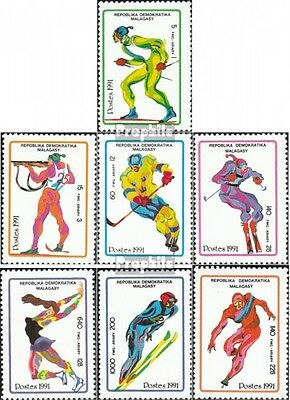 Madagascar 1338-1344 mint never hinged mnh 1991 Olympics Winter Games ´92