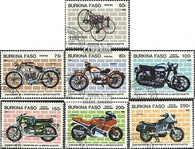 Burkina Faso 998-1004 mint never hinged mnh 1985 100 years Motorcycle