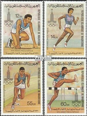 Mauritania 652-655 mint never hinged mnh 1979 olympic. Summer, Moscow